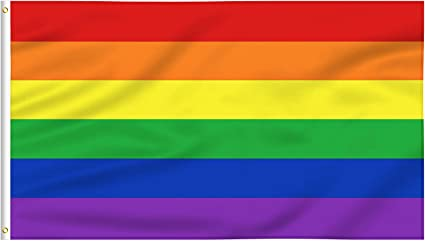 Rainbow Flag 3x5 ft Polyester with Grommets Gay Pride LGBT Banner