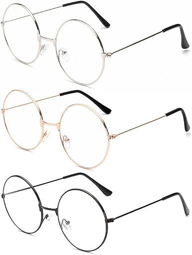 BOZEVON Occhiali da Sole Retr/ò Rotondi Donna Vintage Stile Rotondi Cerchio Metallo Occhiali