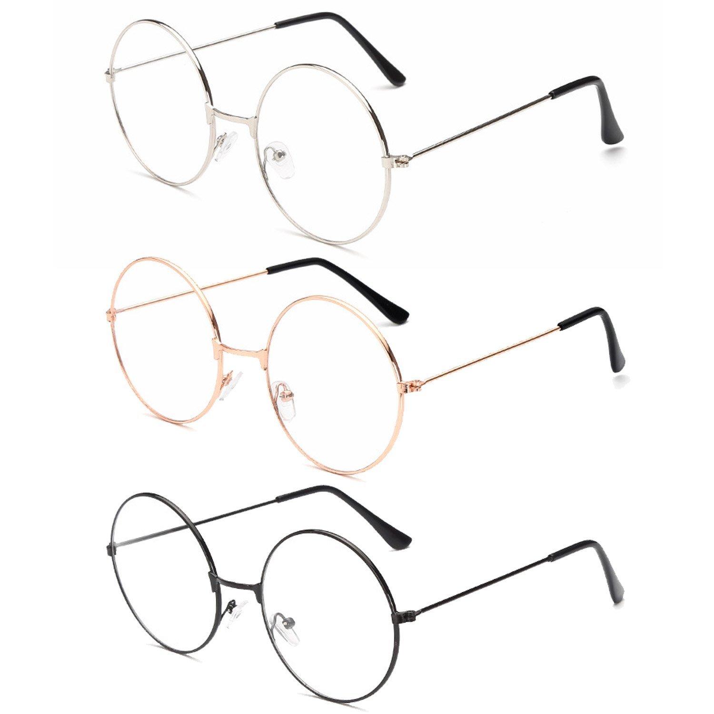 3 pares de anteojos redondos retros unisex 3 colores diferentes ...