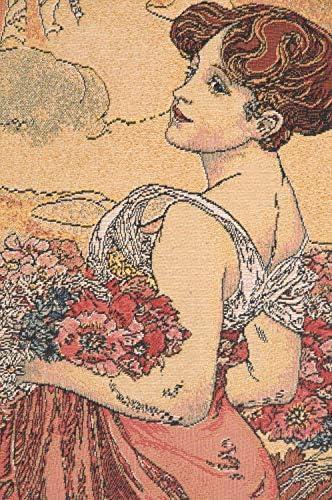 Mucha Summer I European Tapestry WW-8946-12523