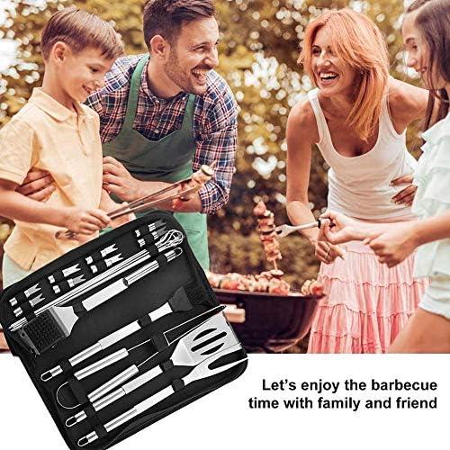 CAPUCHE SWEAT Ensemble D'outils De Gril De Barbecue Ustensiles De Barbecue Trousse D'outils De Cuisson pour Barbecue en Acier Inoxydable