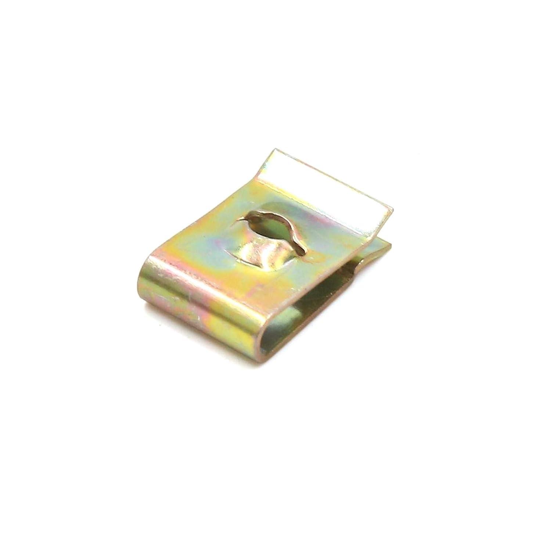 ALONGB 20Pcs Vite con Fermo a Molla Rivetto con Clip a U Foro 17x11x5mm 3mm