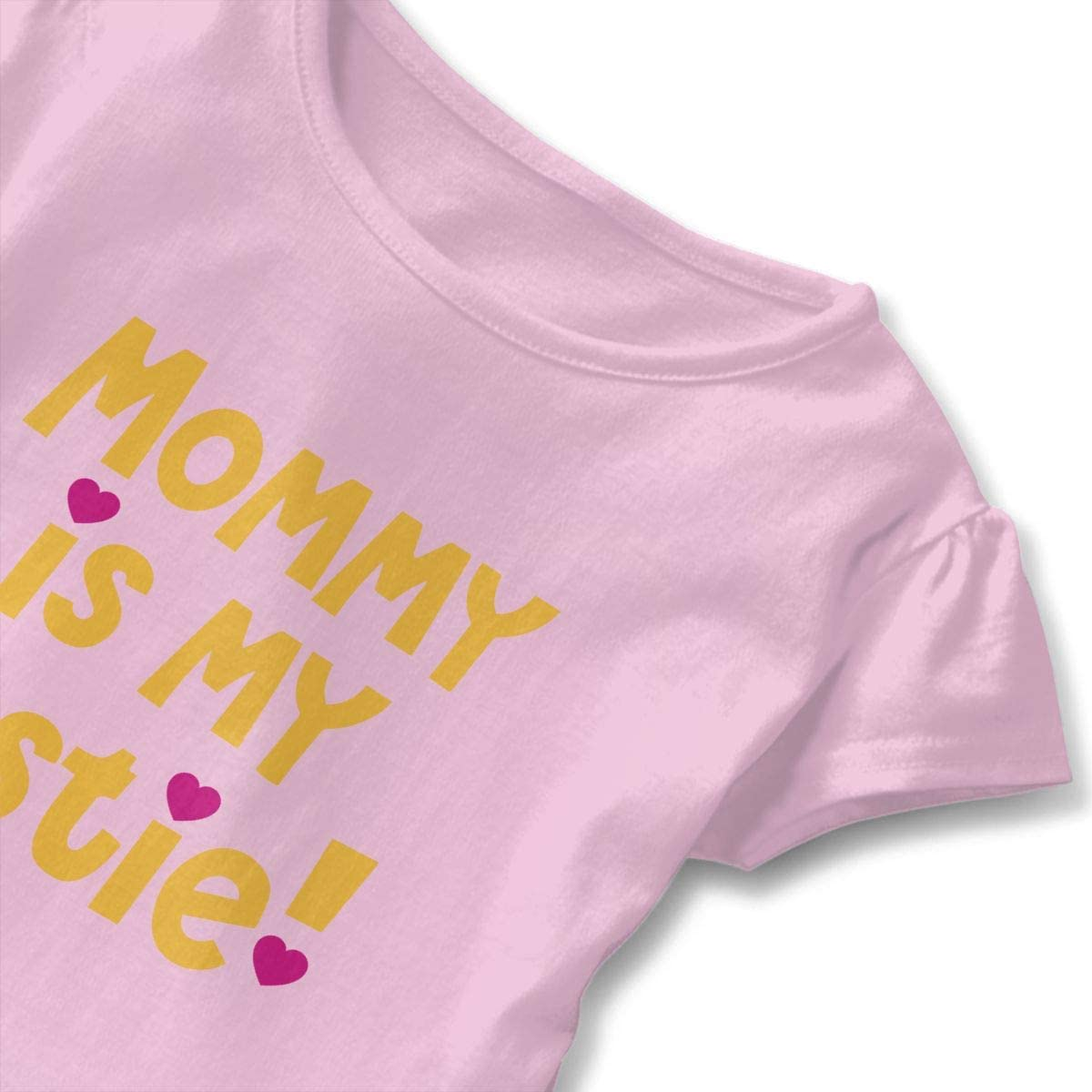 Mommy is My Bestie Baby Flounces Skirts Toddler Cute T Shirt Dress Soft Costume