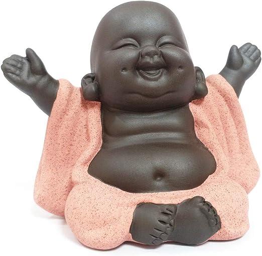 Amazon.com: Estatuas creativas de Buda de cerámica china ...