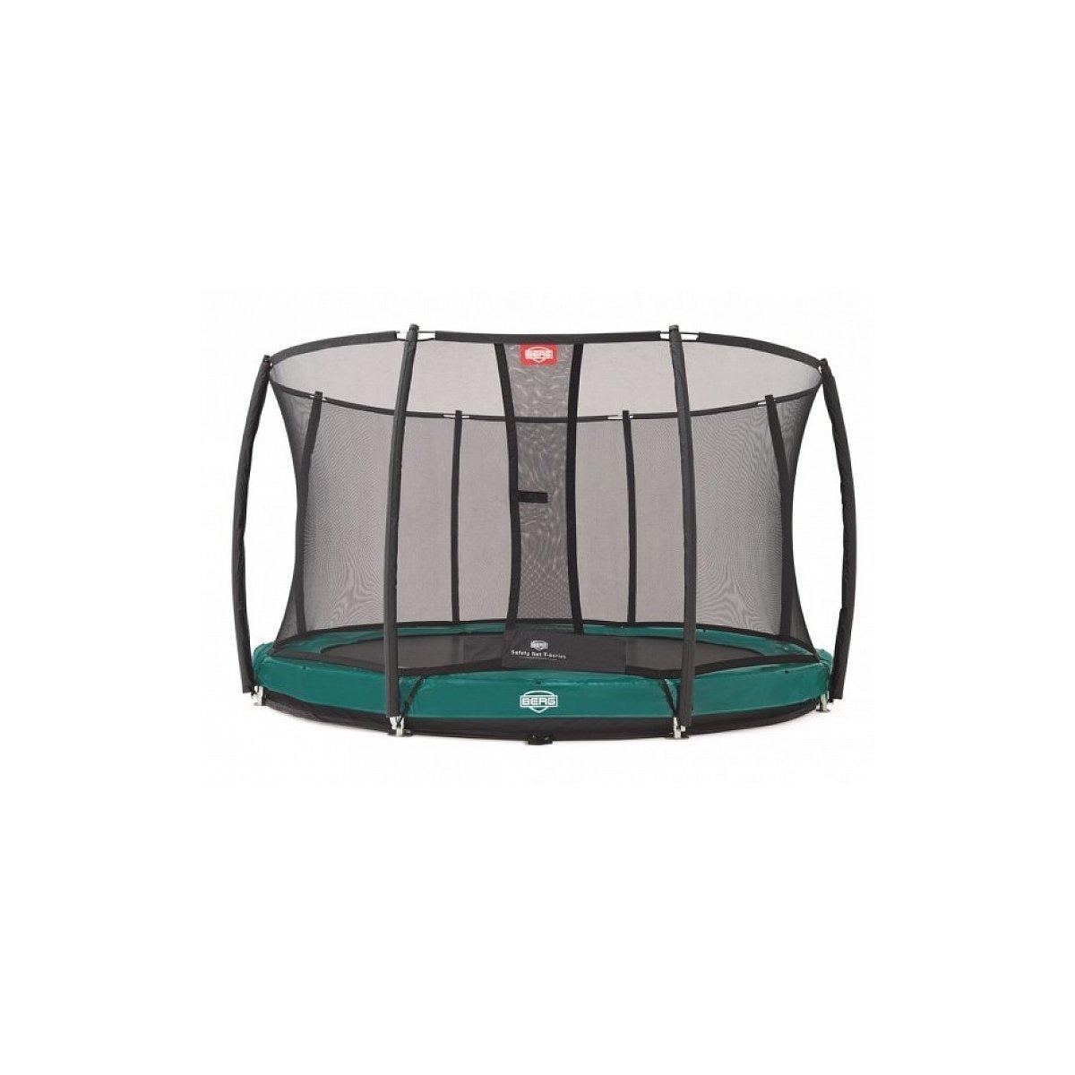 Berg® Trampolin InGround Elite mit Sicherheitsnetz Deluxe, ø 330 cm, Grün