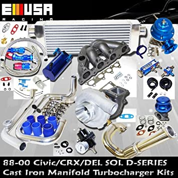 Turbo Kit D Series Honda Civic Del Sol DOHC D15 D16 88 - 00 Precision Cargador de Turbo: Amazon.es: Coche y moto