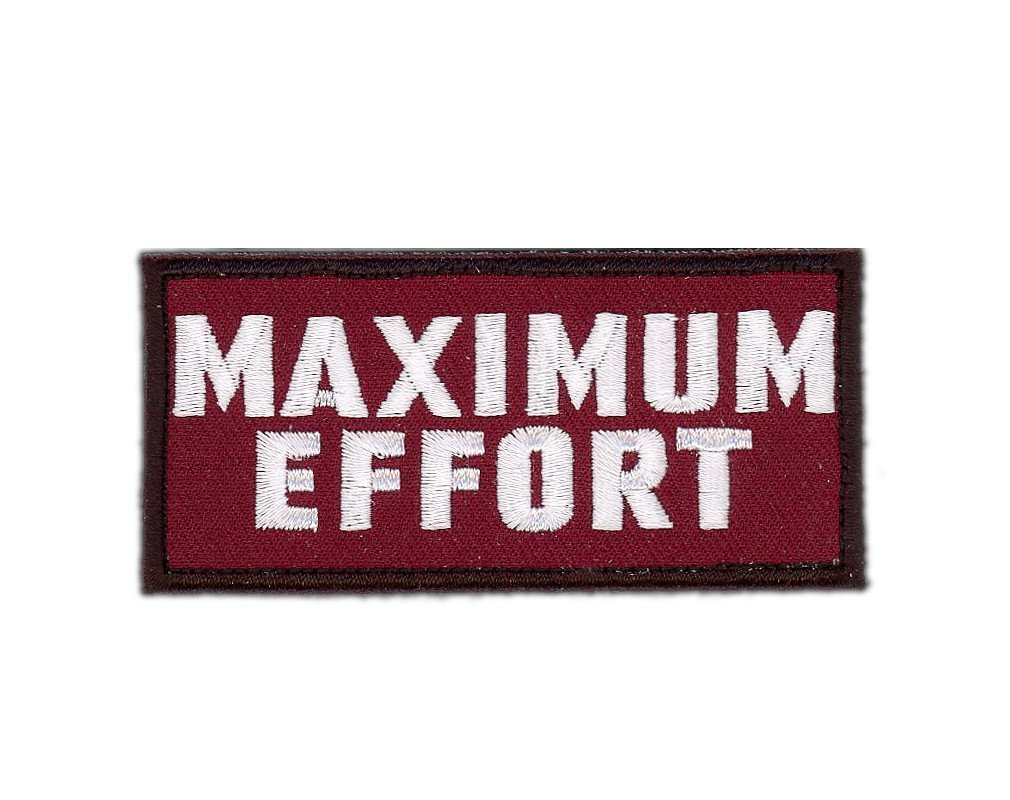 Maximum Effort Deadpool Motivational Morale Gear Rucking Tactical Movie Costume Cosplay Patch Iron On by Titan One Europe