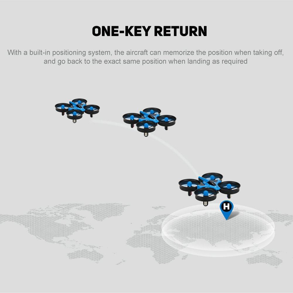 Blue GoolRC Mini UFO Drone 2.4G 4CH 6 Axis Headless Mode Remote Control Nano Quadcopter RTF Mode 2 Quadcopter