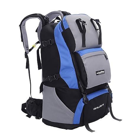 6aceef2689f24 Vbiger Mochila para Exteriores Unisex 60L Mochila para Excursionismo  Multifuncional Mochila Trekking de Gran Capacidad para