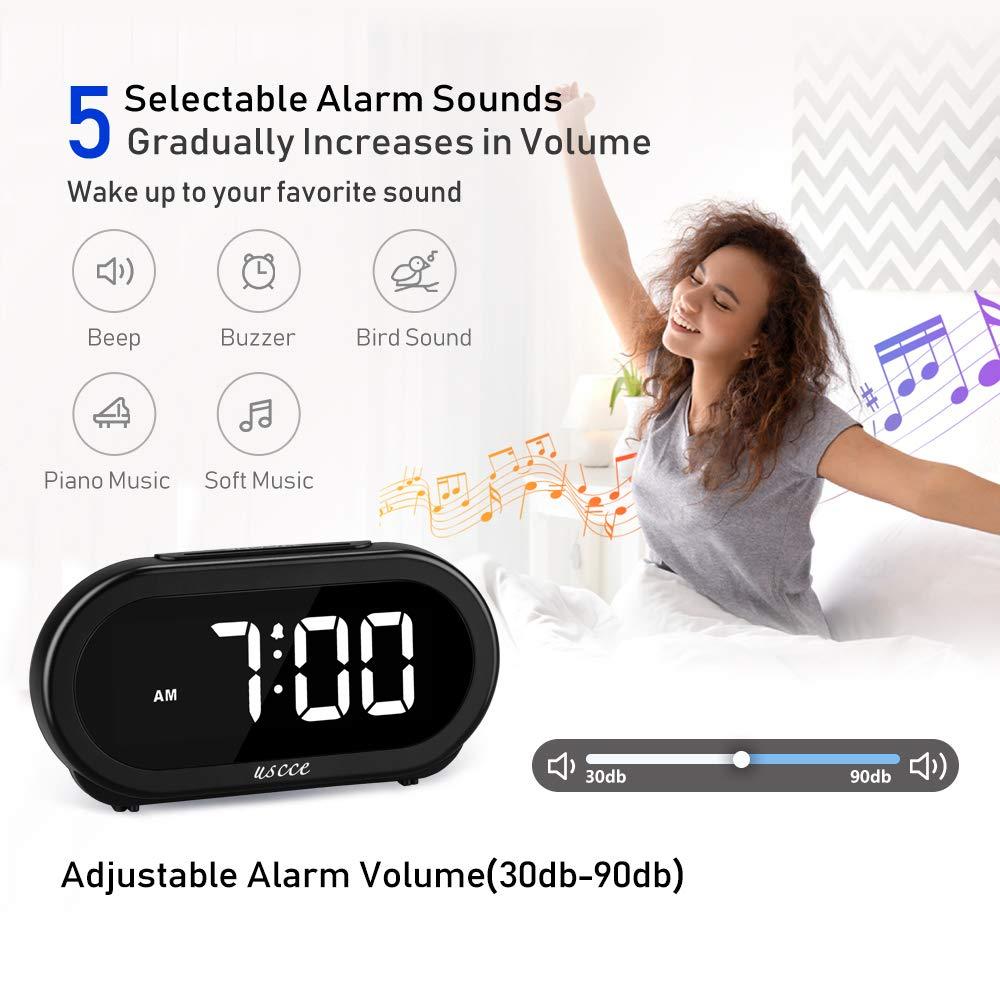 Amazon.com: USCCE - Reloj despertador digital con luz LED ...