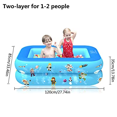 N/M Inflatable Swimming Pool 120-210cm, Foldable PVC Thickened Inflatable Pool Kiddie Pool Outdoor Family Swimming Pool for Kids, Adults, Babies, Toddlers: Home & Kitchen