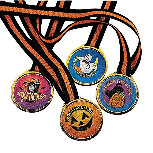 Fun Express Spooktacular! Halloween Award Medals - 12 pcs -