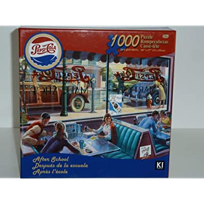 Pepsi-Cola Vintage 1000 Piece Jigsaw Puzzle | After School Malt Shop: Toys & Games
