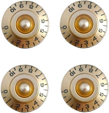 Goodplan Guitare Volume bouton Bouton de commande Bouton Instrument Pi/èces Potentiom/ètre Cap Accessoires de guitare Noir 4 Pcs