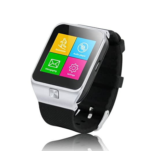 ZGPAX - Reloj inteligente compatible con iPhone 6S, 6S Plus y 5s, Samsung S6, S5 y S4, ...