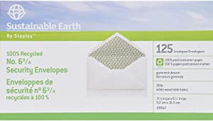 Sustainable Earth 863002#6-3/4 100% Recycled Business Envelopes 125/BX