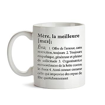 a7966f4ea13 Tasse imprimée - Mug - Définition Meilleure Maman - Personnalisée - Tasse à  café et thé