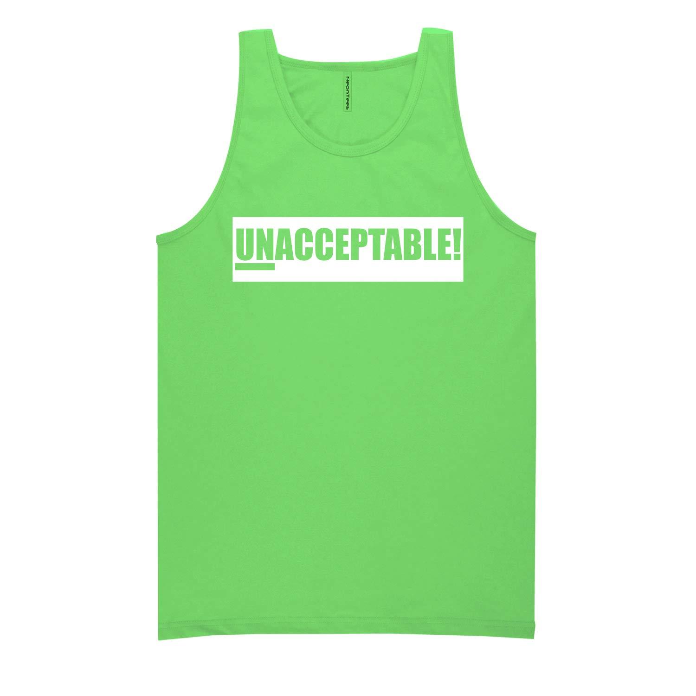 White ZeroGravitee Unacceptable Neon Tank Top
