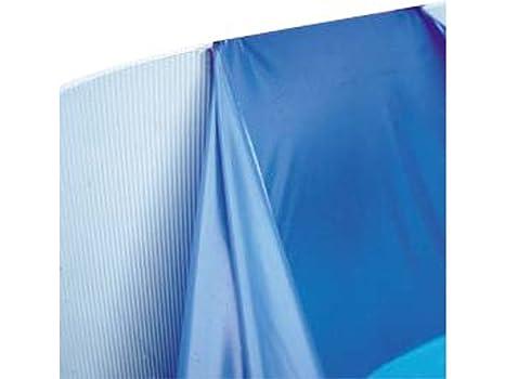 Summer Fun Pool Folie rund /ø 4,00m x 0,90m Folienst/ärke 0,4mm blau mit Einh/ängebiese Poolfolie Innenh/ülle 400 x 90 cm Stahlwandpool Rundpool