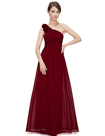 e690e1594e1 Ever-Pretty Flower One Shoulder Long Bridesmaids Evening Party Dress ...