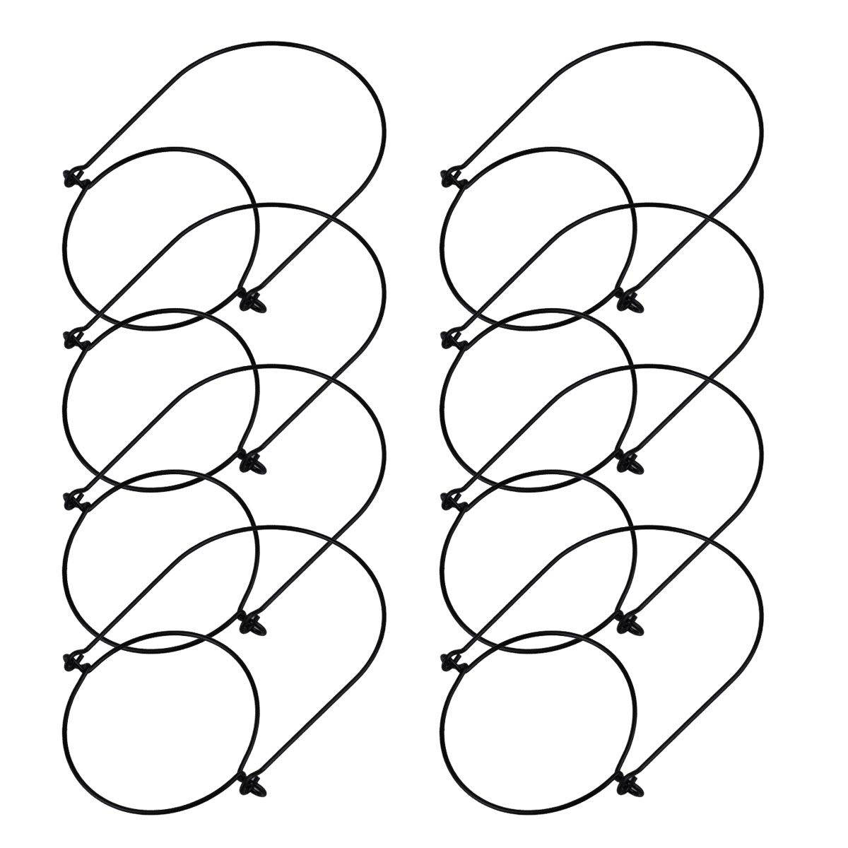 FEESHOW 6/8pcs Stainless Steel Wire Handles for Mason Jar, Ball Pint Jar, Canning Jars, Mason Jar Hangers and Hooks for Regular Mouth 8PCS Black Stainless Steel One Size