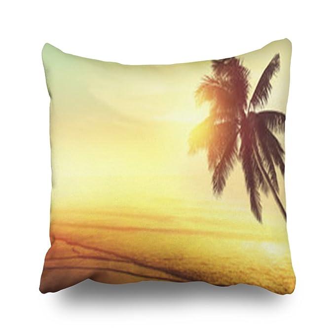 Sneeepee Fundas decorativas de almohada, diseño de playa ...