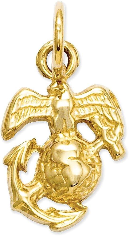 S K/&C 14k Yellow Gold U Marine Corps Charm