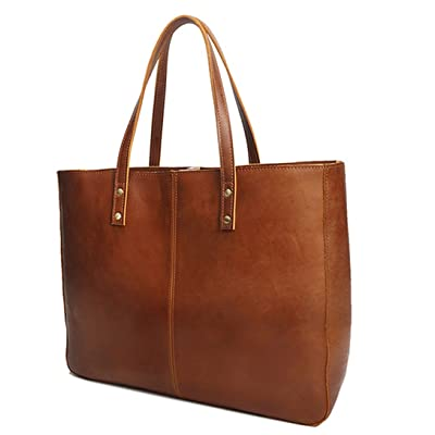 Lady portable briefcase leather retro handmade ladies work bag briefcase