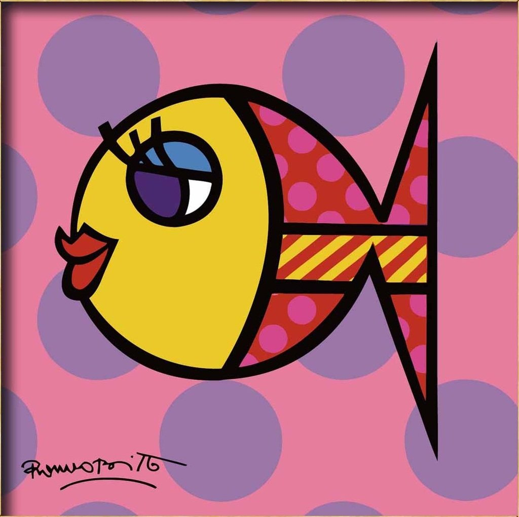 Colour Talk Diy oil painting, paint by number kits for kids - Beauty fish 8''X 8''.