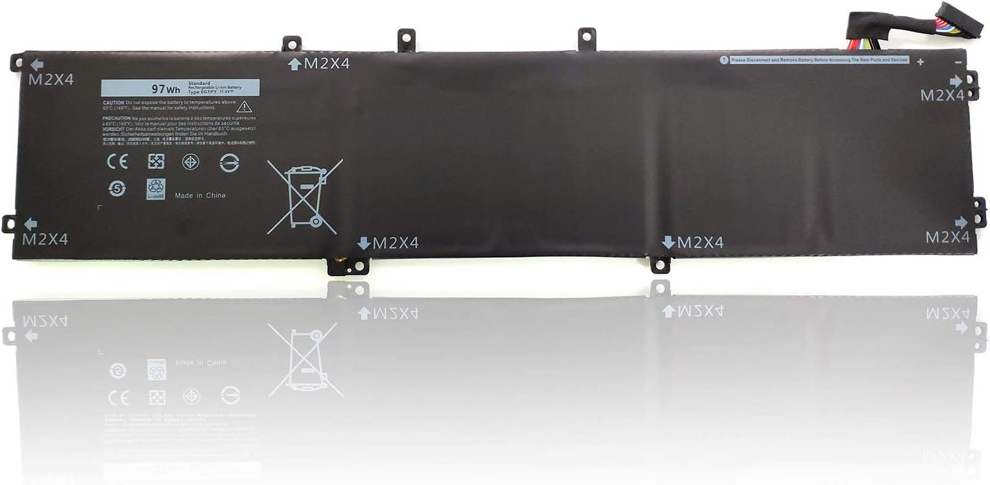 Binger New 6GTPY Replacement Laptop Battery Compatible with Dell XPS 15 9560 9550 Precision 5510 5520 M5520 5XJ28 Series (11.4V 97W)