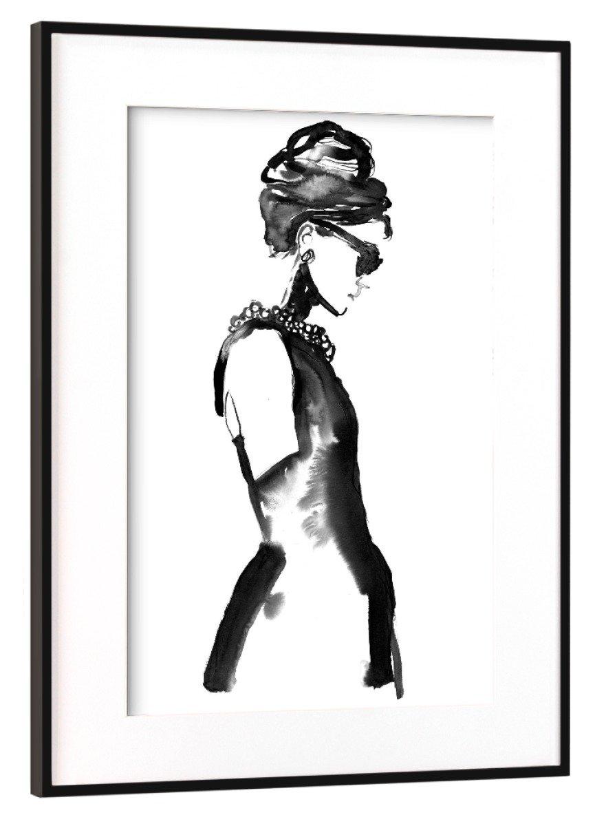 ArtboxONE Poster mit Rahmen Schwarz (Metallic) 60x40 cm