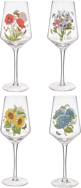 Portmeirion Botanic Garden Set of 4 Wine Glasses …