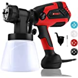 Paint Sprayer, 700 Watt High Power Home Electric Spray Gun, 4 Nozzle Sizes, Lightweight, Easy Spraying and Cleaning Perfect f