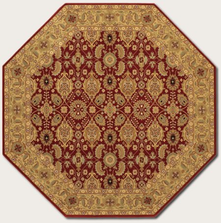 Couristan 06212597 Royal Kashimar Cypress Garden Area Rug, Persian Red 7-ft 10-in x 11-in Oval