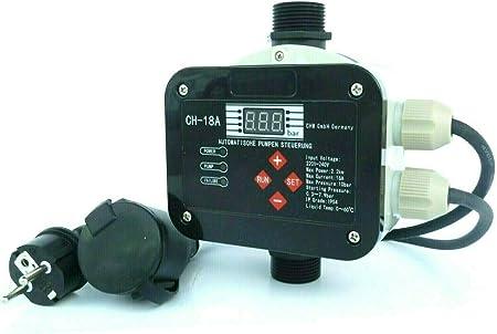 Chm Gmbh Digitale Vollautomatische Pumpensteuerung Ch18 A Mit Sensor Technologie Master Chip Und Drucksensor Steuern Das Ein Und Ausschalten Der Pumpe Fur Pumpen Bis 2 2 Kw Amazon De Garten