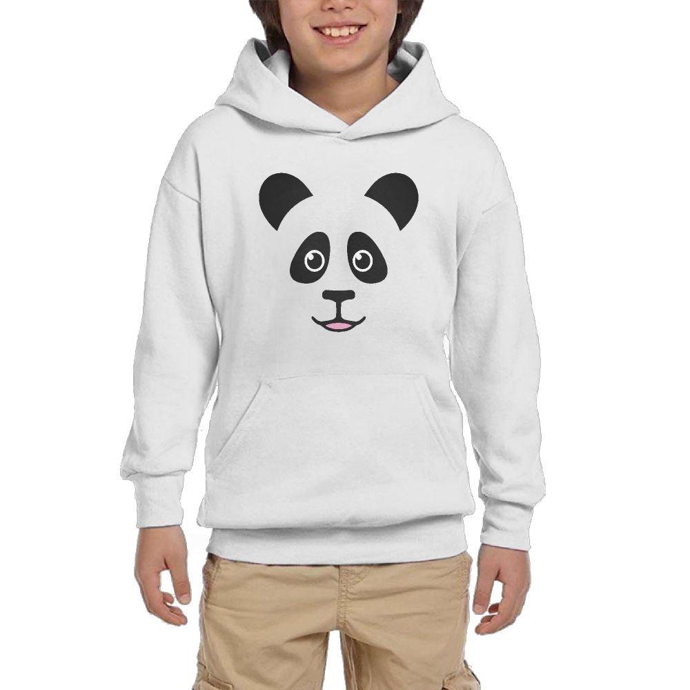 Inehabqq Llwu Boys Girls Fashion Classic Cute Panda Bear Face With A Pocket Pullover Unisex by Inehabqq Llwu