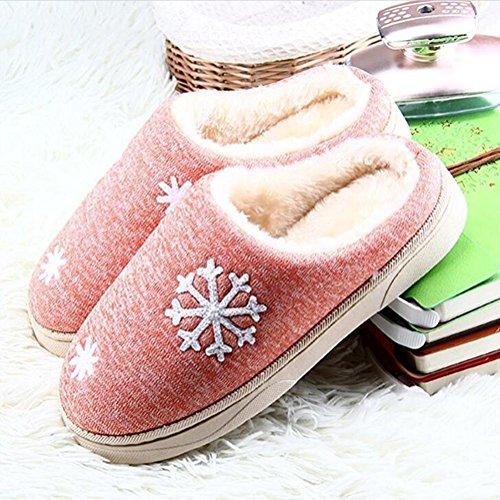 Bello 40 Morbido Famiglia 011 Caldo eu39 Inverno Felpa Di Mantieni Slippers Eu Maschi Ms Cotone Fondo Slittata Pantofole Zhang2 za8pw