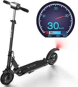 Patinete Eléctrico, hasta 30KM de Largo Alcance, Pantalla LCD, Manillar Ajustable Scooter Eléctrico Ultraligero Plegable para Adolescentes y Adultos - ...
