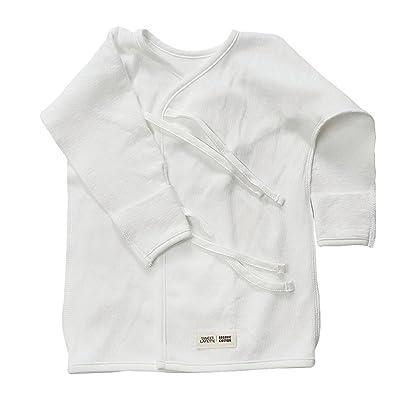 100% Organic Cotton Newborn Long Sleeve Side Snap Shirt Ivory