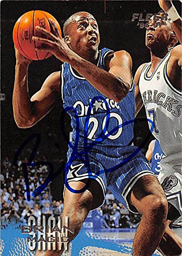 34b3dd0bb7b02 Brian Shaw autographed Basketball Card (Orlando Magic) 1997 Fleer ...