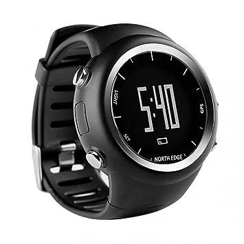 OOLIFENG Hombres Reloj de pulsera digital GPS Running Watch Luz de fondo EL / 5ATM a prueba de agua para deportes al aire libre: Amazon.es: Deportes y aire ...