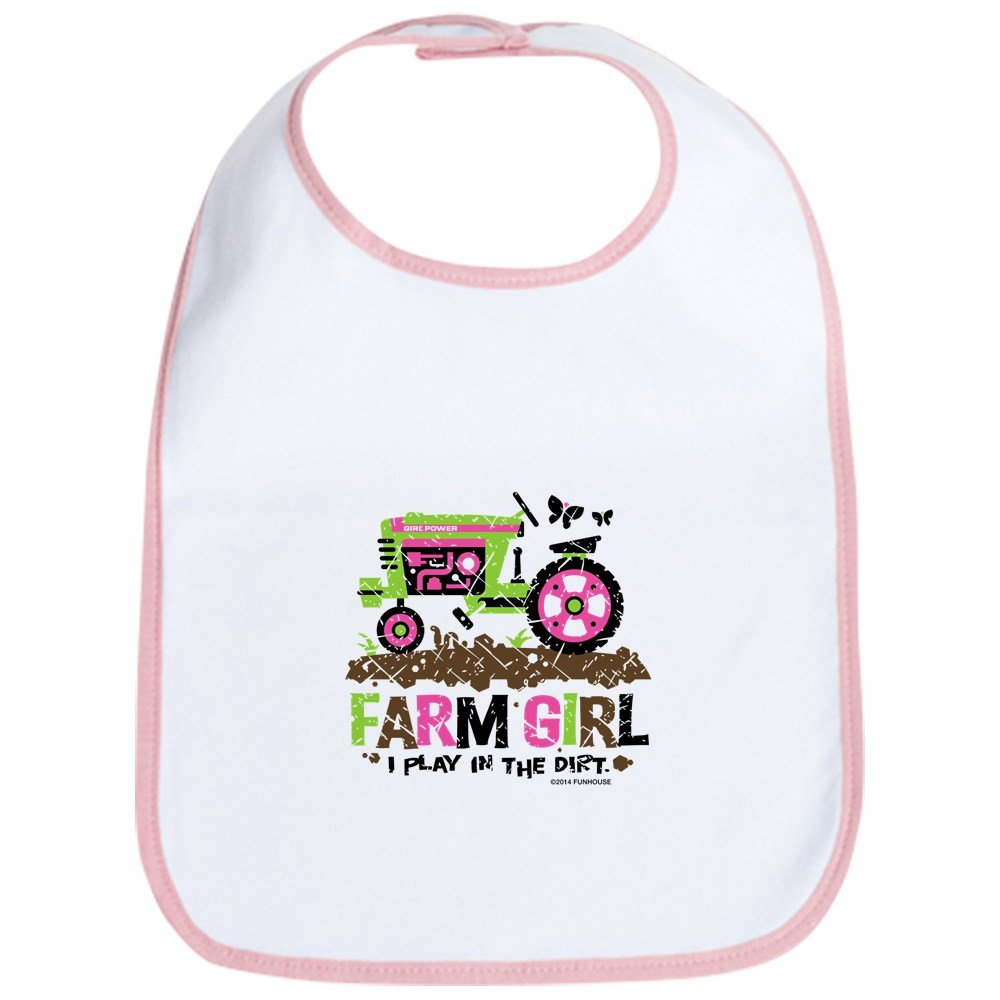 CafePress - Farm Girl Bib - Cute Cloth Baby Bib, Toddler Bib