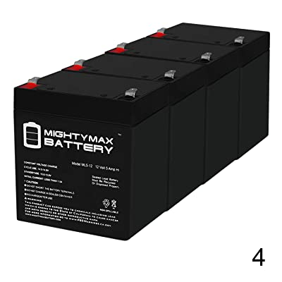 Mighty Max Battery ML5-12 - 12V 5AH Battery for Razor E100 E125 E150 E175 Electric Scooter - 4 Pack Brand Product: Home Audio & Theater