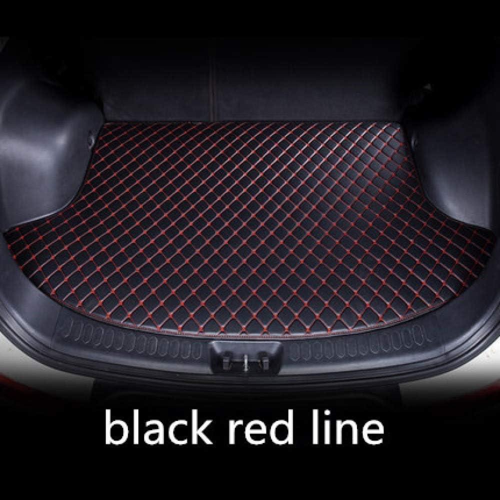 Arona Leon 2017 2019 Color : Full Black Red for Seat Clmaths Tapis de Coffre de la Voiture Cuir Voiture personnalis/ée Coffre Tapis de Coffre Tapis arri/ère Plateau Tapis