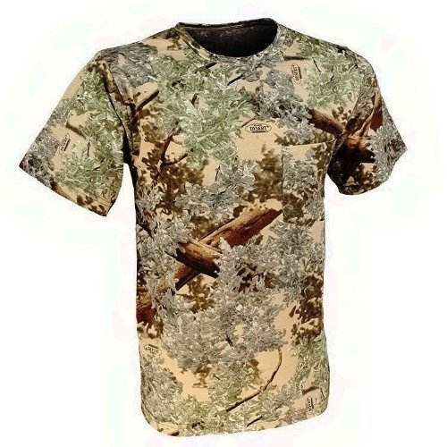 King's Camo Cotton Short Sleeve Hunting Tee, Desert Shadow, X-Large