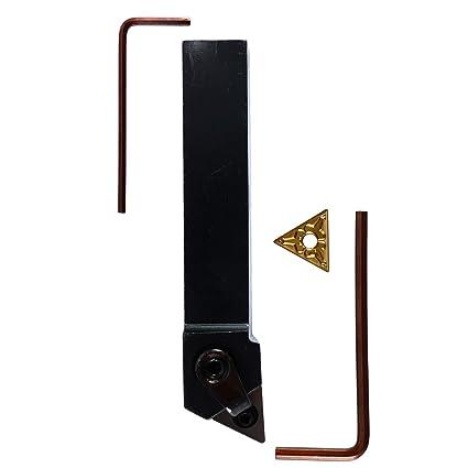 CNC Metal Lathe Turning Tools Holder Bit Set with 10x Carbide Inserts