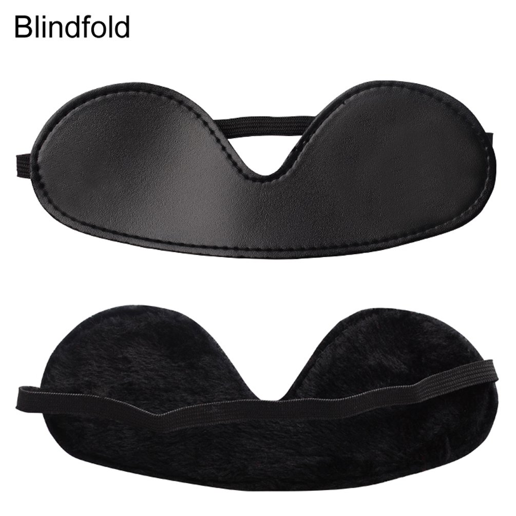7PCS SM Bondage Restraints Sex Kit Adult Sex Game Tools Black Sex Accessories Blindfold, Breathable Mouth Ball, Neck Collar,Handcuffs,Ankle Cuffs, Soft Leather Whip, Bondage Rope Submissive Tool