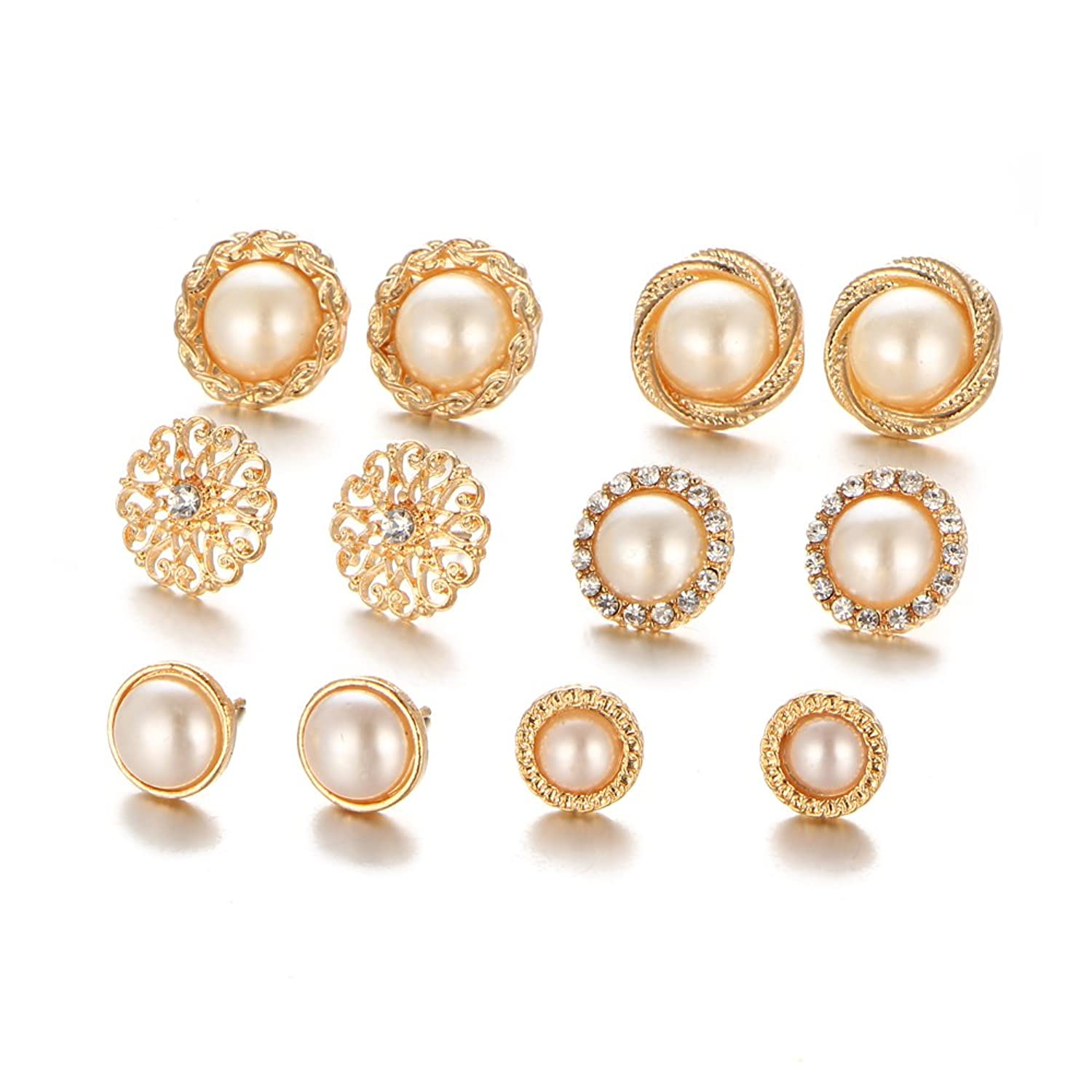 jewelry crystal wedding media pearl bridesmaid gold stud earrings rose bridal simple