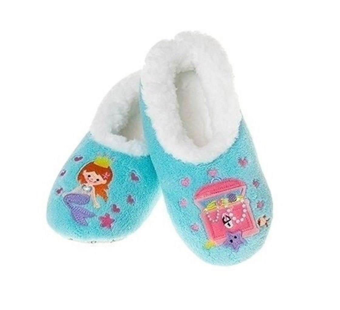 Snoozies Girls Fleece Lined Slippers Kids Fairytale