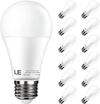 12Pk. Lighting Ever Non-Dimmable LED Bulbs